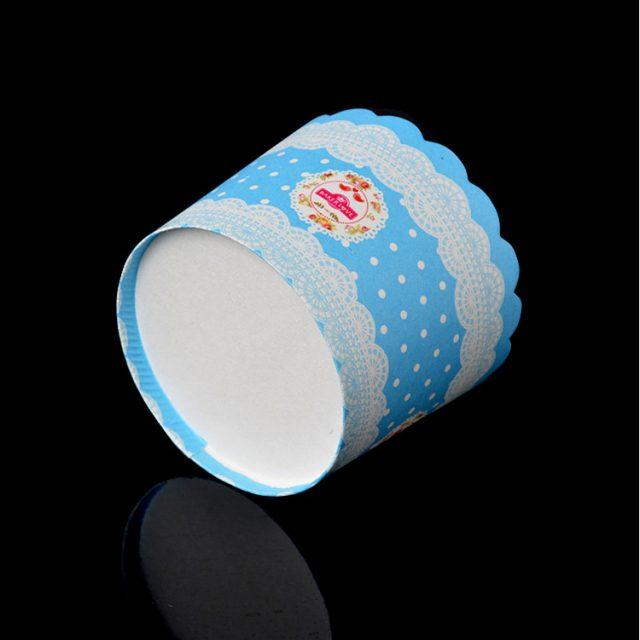 ly giấy cupcale tròn màu xanh 50 cái 01