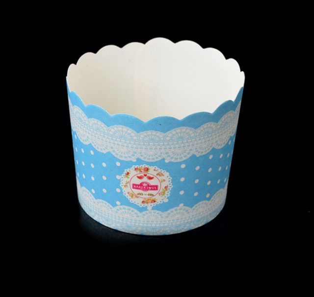 ly giấy cupcale tròn màu xanh 50 cái