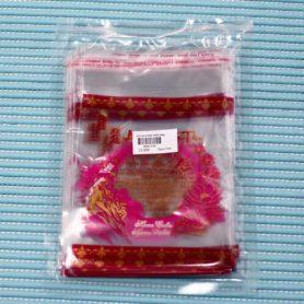 túi dán bánh trung thu hoa sen hồng 100gr